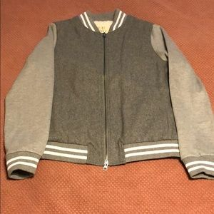 New without Tags-Gray Varsity Jacket